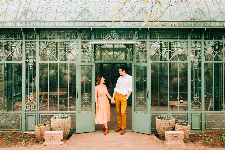 denver botanic gardens engagement photo